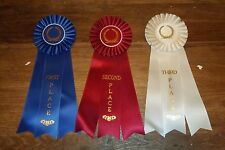 Complete Set 1st-3rd Place Large Rosette Ribbons High Quality 12""