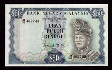 Malaysia, 50 Ringgit 1976, P-16, XF-AU * Signature Ismail Md. Ali *