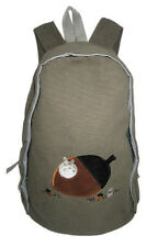 "New My Neighbor TOTORO OLIVE GREEN Canvas Backpack School Work Kids 17 "" Gift"