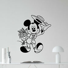 Mickey Mouse Wall Decal Cartoon Disney Vinyl Sticker Nursery Decor Poster 105hor