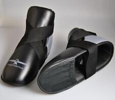 Fußschutz grau-schwarz, Zehentasche, für festen halt. Kickboxen, Karate,Taekwond
