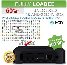 Android TV Box Kodi 17.1, Movies, TV Channels, TV Shows, Sports