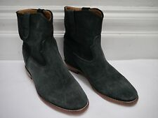 ISABEL MARANT ETOILE Crisi anthracite gray suede ankle boots size 40 WORN ONCE
