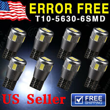 10 X Canbus Error Free White T10 5630 6SMD Wedge LED Light bulbs W5W 194 168 921