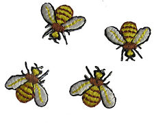 #4358 Lot 4Pcs Embroidery Iron On Bee Applique Patch