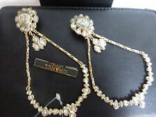 CHANEL Gripoix CC Logo Paris Bombay Collection 2012 A Earrings Clip-On Box NWT