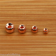 100pc(4 different size) Tungsten Fly Tying Beads Nymph Head Ball Beads -- Copper