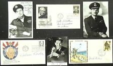 Noted WW2 RAF Pilots Autographs Gillam, Lucas, Johnson, Cheshire, Brothers Korda