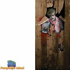 HALLOWEEN ZOMBIE HORROR DOOR POSTER 6FT x 3FT - fancy dress party accessory