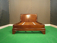 Mahogany   4'6 Double Size Sleigh style Bed , bedframe ....TOP Quality Bed
