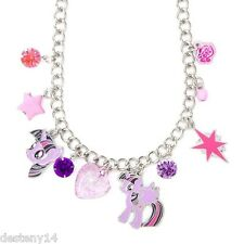 My Little Pony Princess Twilight Charm Necklaces Star Glittery Heart Cute Shiny