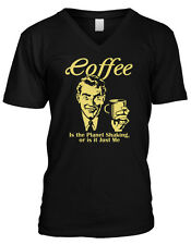 Coffee Is The Plant Shaking Or Is It Just Me Caffeine Funny Mens V-neck T-shirt