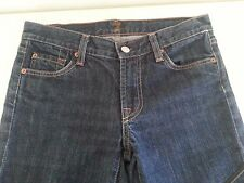 7 FOR ALL MANKIND Women's Jeans 26 Denim Boot Cut Ins 29 Dark Ultra Low Cotton