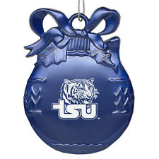 Tennessee State University - Pewter Christmas Tree Ornament - Blue