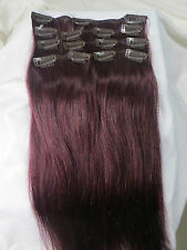 """Full Head 15""""~36"""" Remy Clip In Human Hair Extensions Straight Real Natural Hair"""