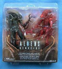 ALIENS GENOCIDE TWO PACK RED AND BLACK XENOMORPS NECA REEL TOYS 2013 FIGURES AVP