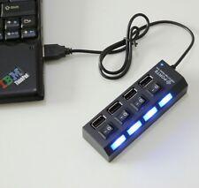 New Black Slim 4 Port High Speed Mini USB 2.0 Multi Hub For Laptop PC  USB Hubs