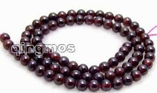 5mm Round high quality garnet gemstone Beads strand 15""