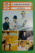Crime Movie The Sicilian Clan Jean Gabin Alain Delon French Film Trade Card