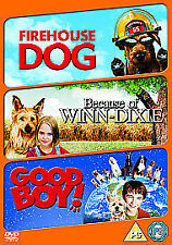 Firehouse Dog/ Because Of Winn-Dixie/ Good Boy DVD 3 kids film about dogs