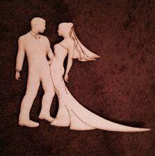 Sposa E Sposo MDF forma COPPIA Ritaglio Craft Wedding Decor