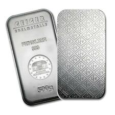 One piece 500 gram 0.999 Fine Silver Bar Geiger Security Line Series Lot 8903