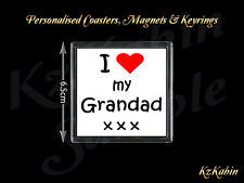 I Love my Grandad Fridge Magnet Birthday Fathers Day Gift