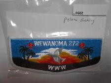 WEWANOMA LODGE 272  PYLON BACKING  F602