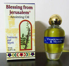 Blessed Certified Frankincense and Myrrh Jerusalem Anointing Oil 0.34 fl.oz