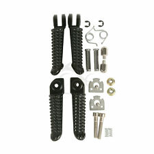 Black Front & Rear Footrest Foot Pegs For Yamaha YZF R1 02-14 YZF R6 2003-2012