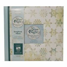 "SALE Silent Night Snowflake Large 12"" Scrapbook Window Memory Photo Album 12x12"
