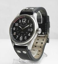 44mm HAMILTON KHAKI FIELD OFFICER H706150 CAL. 2824-2 Black Dial AUTOMATIC watch