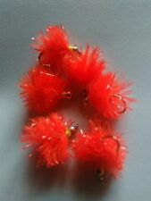 6 Orange Blob Trout  Buzzers Trout Nymphs Dry Fly Fishing Trout Flies