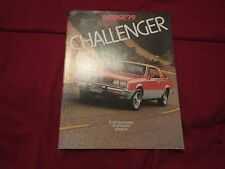 1979 DODGE CHALLENGER FACTORY ORIGINAL DEALER SALES BROCHURE