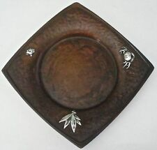 GORHAM AESTHETIC MIXED METALS COPPER STERLING CRAB & FROG TRAY  C. 1881