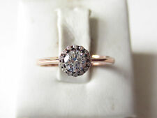 925 Sterling Silver Turkish Authentic Hurrem Sultan White Topaz Rose Ring  6.5