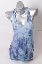 $49 American Rag Women`s Printed Twisted-back Tank Top S Small Blue NEW