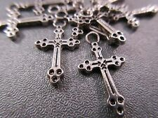 50 pcs Silver Plated Spacer Cross