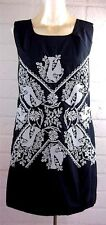 Mint! Anthropologie Hazel SZ L Black Cross Stitch Bird Embroidered Boho Dress