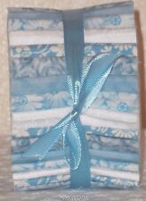 "Quilting Fabric Honey Bun Strips 20~1.5"" Baby Light Blue White 100%Cotton Quilt"