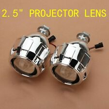 "Pair 2.5"" HID Bi-xenon Projector Lens For LHD H1 Bulb Shround Headlight Lamp"