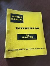 CATERPILLAR CAT CRAWLER D8 DOZER TRACTOR SERVICE MANUAL 15A 14A