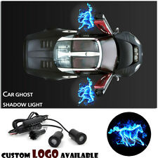 2x Blue Fire Horse Logo Car Door LED Light Ghost Shadow Projector Laser Courtesy