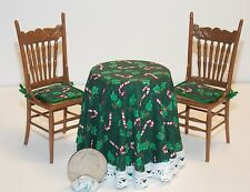 Dollhouse Miniature Christmas Table & Chairs Set  A 1:12   1 inch scale  H109