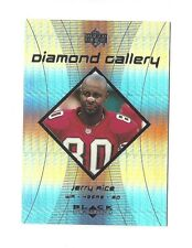 1999 UD BLACK DIAMOND GALLERY JERRY RICE #G7 SAN FRANCISCO 49ers