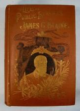 Life And Public Services Of James G Blaine Antique Book 1893 Henry Northrop (O)