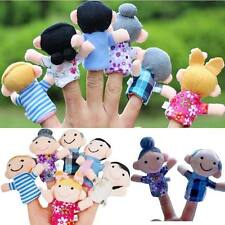 6pcs Family New Cute Mini Finger Puppets Educational Kids Hand Toy For Boy Girl