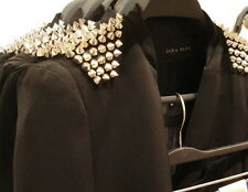 GENUINE ZARA STUD STUDDED SPIKE LONG LINE BLAZER JACKET COAT NEW SIZE SMALL S