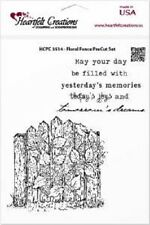 HEARTFELT CREATIONS PreCut Rubber Stamps FLORAL FENCE HCPC 3514 2 Stamps