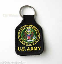 US ARMY EMBLEM LOGO EMBROIDERED KEY CHAIN KEY RING 1.75 X 2.75 INCHES